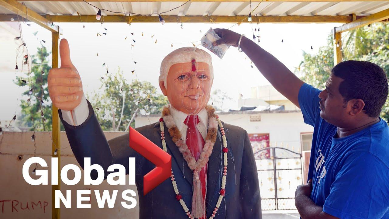 Download Trump superfan worships shrine to U.S. president ahead of India visit