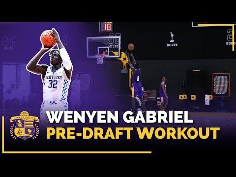 Kentucky Forward Wenyen Gabriel 2018 Lakers Pre-Draft Workout (3-Point Shoot Around)