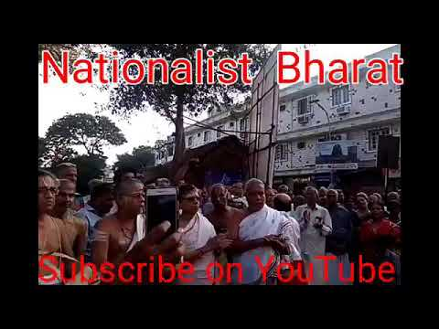 Brahmins protested in Mylapore Chennai
