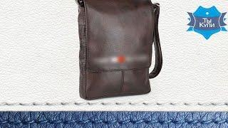 Сумка-планшет мужская с вышивкой 29589185 коричневая. Купить в Украине. Обзор