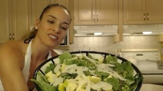 How To Make Romaine Salad With Baby Kale, Apple & Sheep's Milk Cheese: Cooking With Kimberly