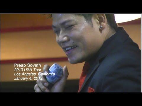 "Part 1: Preap Sovath singing Khmer Madizon song ""Yuveachun Koach Chet"" a concert in Los Angeles, CA"