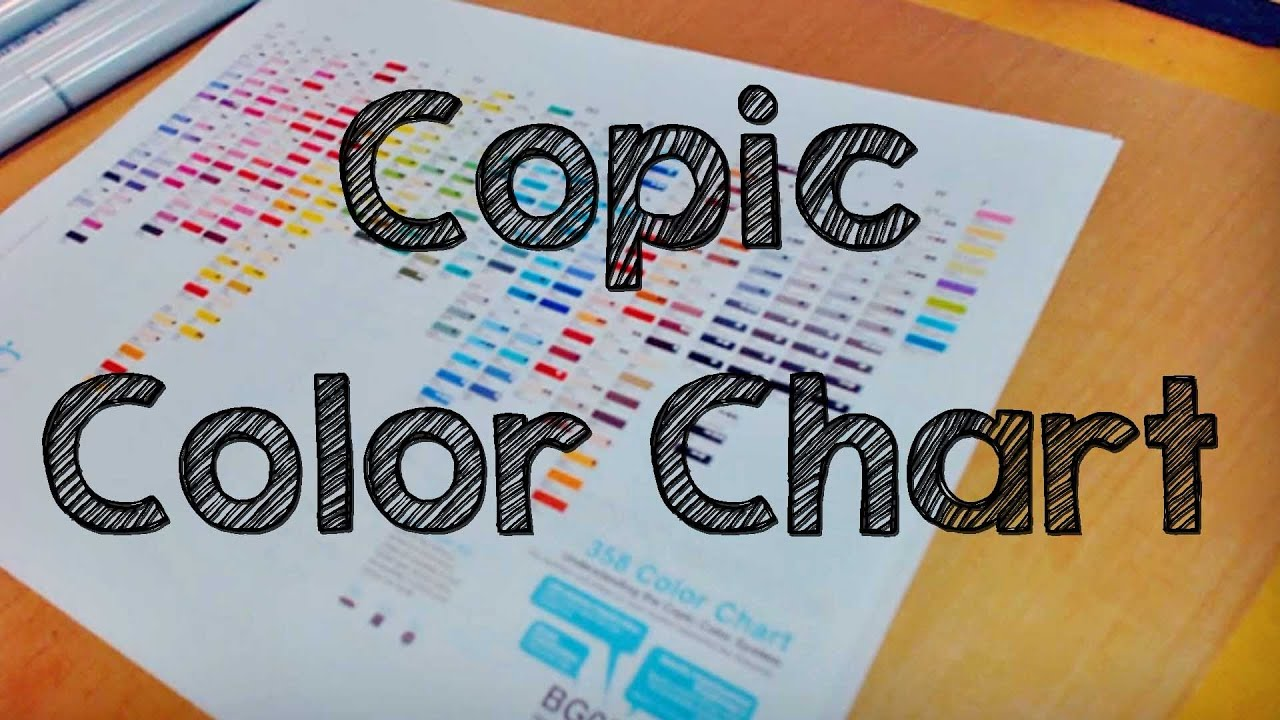 Copic Color Charts Youtube