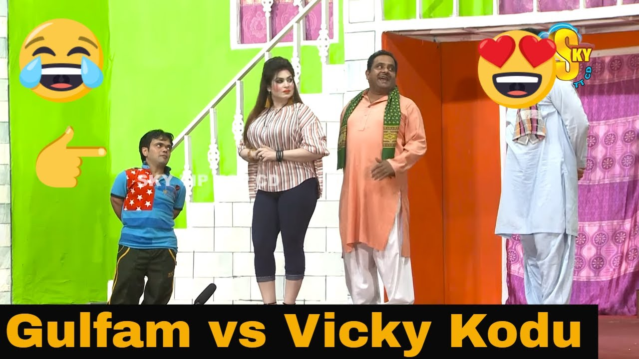 Gulfam with Vicky Kodu and Saira Mehar | Stage Drama Ik Wohti 3 Laare | Comedy Clip 2019