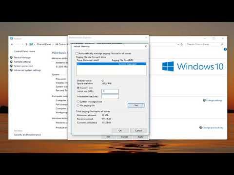 Windows 10 How To Adjust Virtual Memory