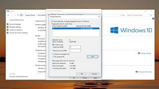 Windows 10 How t๐ Adjust Virtual Memory