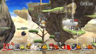 SSB wii u sudden death 8 player