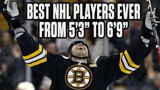 Greatest NHL Players Of All-Time - Sorted By Height