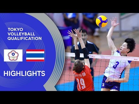 Chinese Taipei Vs. Thailand - Highlights | AVC Women's Tokyo Volleyball Qualification 2020
