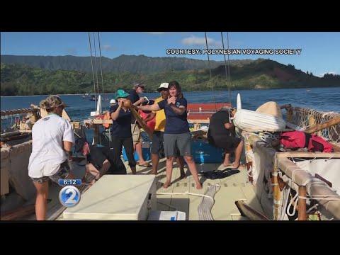 Hokulea's Mahalo Hawaii sail visits Kauai