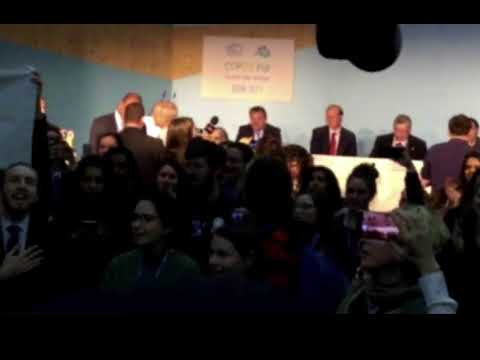 "COP 23: Protesters Disrupt Trump ""Coal for Climate"" Meeting"