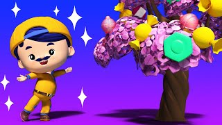 АнимаКары - ДЖОННИ находит в Лесу КОНФЕТНОЕ ДЕРЕВО - мультфильмы для детей с машинами и животными