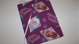 FROZEN Disney Princess Elsa Anna DIY How To Make Book Journal for School Backpack