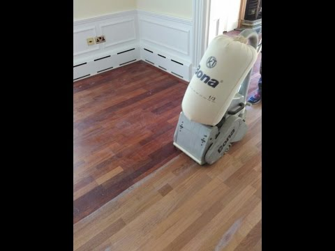 Floor Sanding Engineered Wood Merbau Youtube