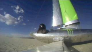 "Landsailing ""Monster"" Land Sailer 80+mph El Mirage"