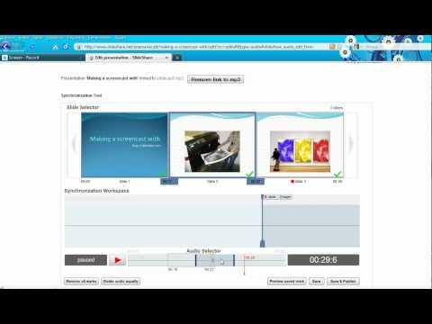 Making slidecasts with Slideshare