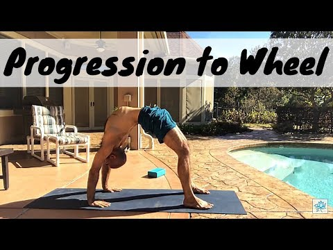 yoga progression to wheel pose  urdhva dhanurasana  youtube