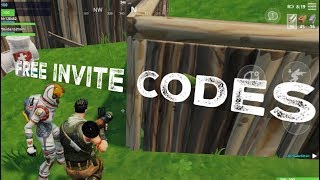 FORTNITE Mobile FREE INVITE CODES! NOT HACKED