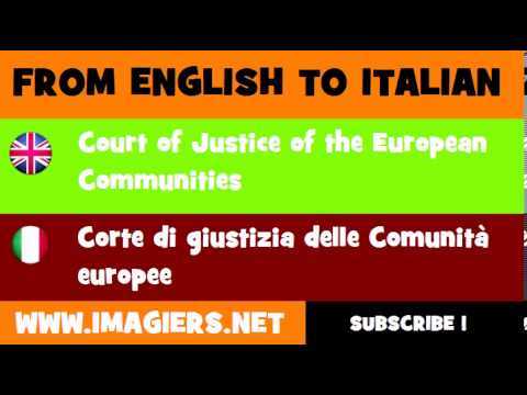 How to say Court of Justice of the European Communities in Italian