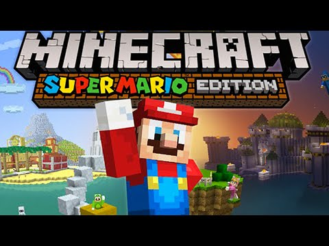 Minecraft Wii U Super Mario Mash-Up Pack - Free Update, New World Map, Character Skins, Mob Textures
