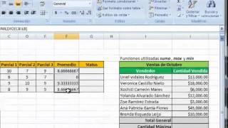 Funciones o formulas en Excel thumbnail
