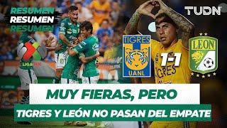 Resumen y Goles Tigres 1 - 1 León | Liga MX -  Apertura 2019  -  Jornada 8 | TUDN