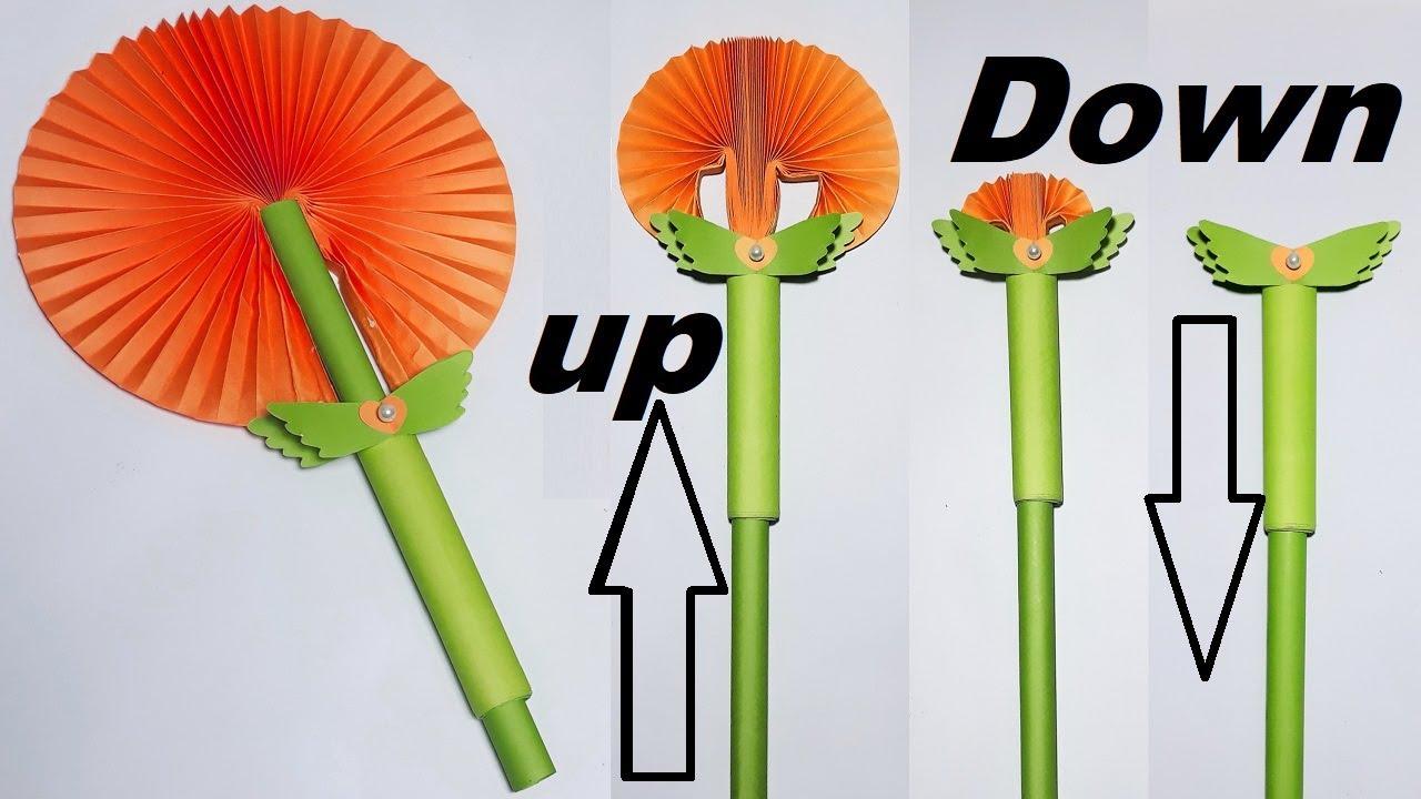 Download DIY - Paper Flower FAN | Beautiful Fairy Magic Wand - pull Down Will Turn Into a Beautiful Fan |