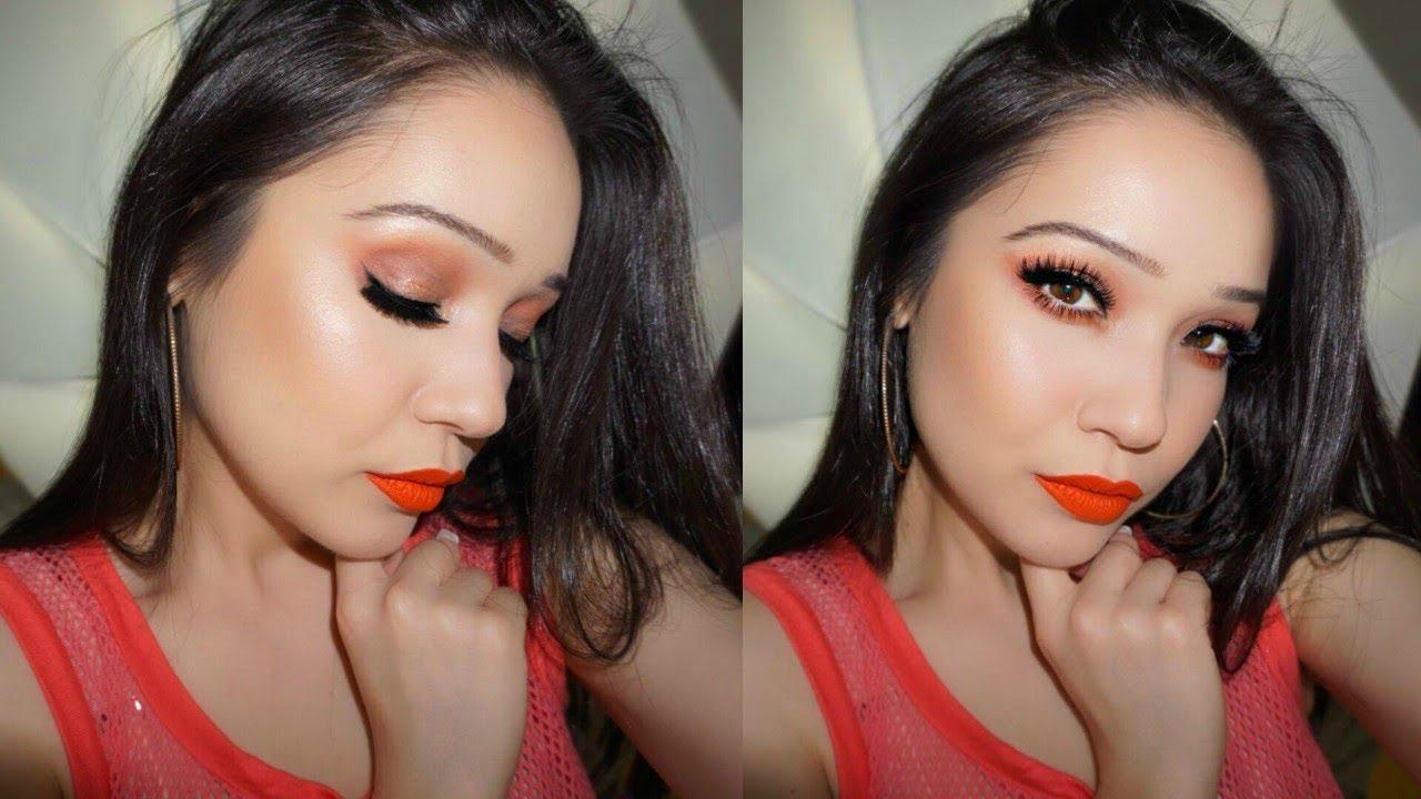 72bf621c4f3 Orange Look feat. Eylure Lashes #121 - YouTube