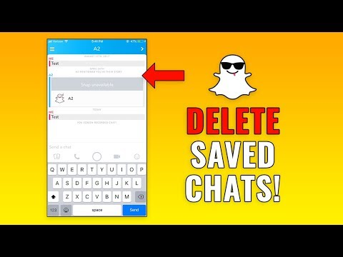 Can you delete saved snaps on snapchat