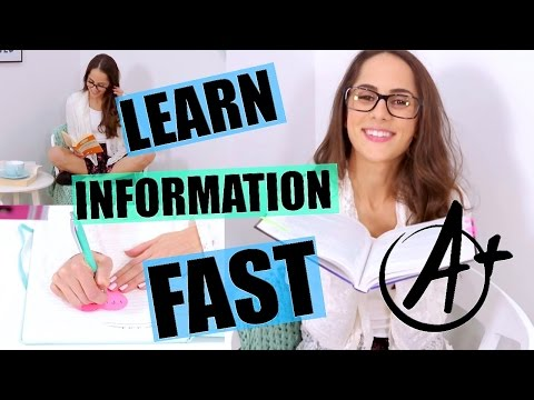 BEST Tricks for Learning Information FAST! |Back To School Study Tips 2015|