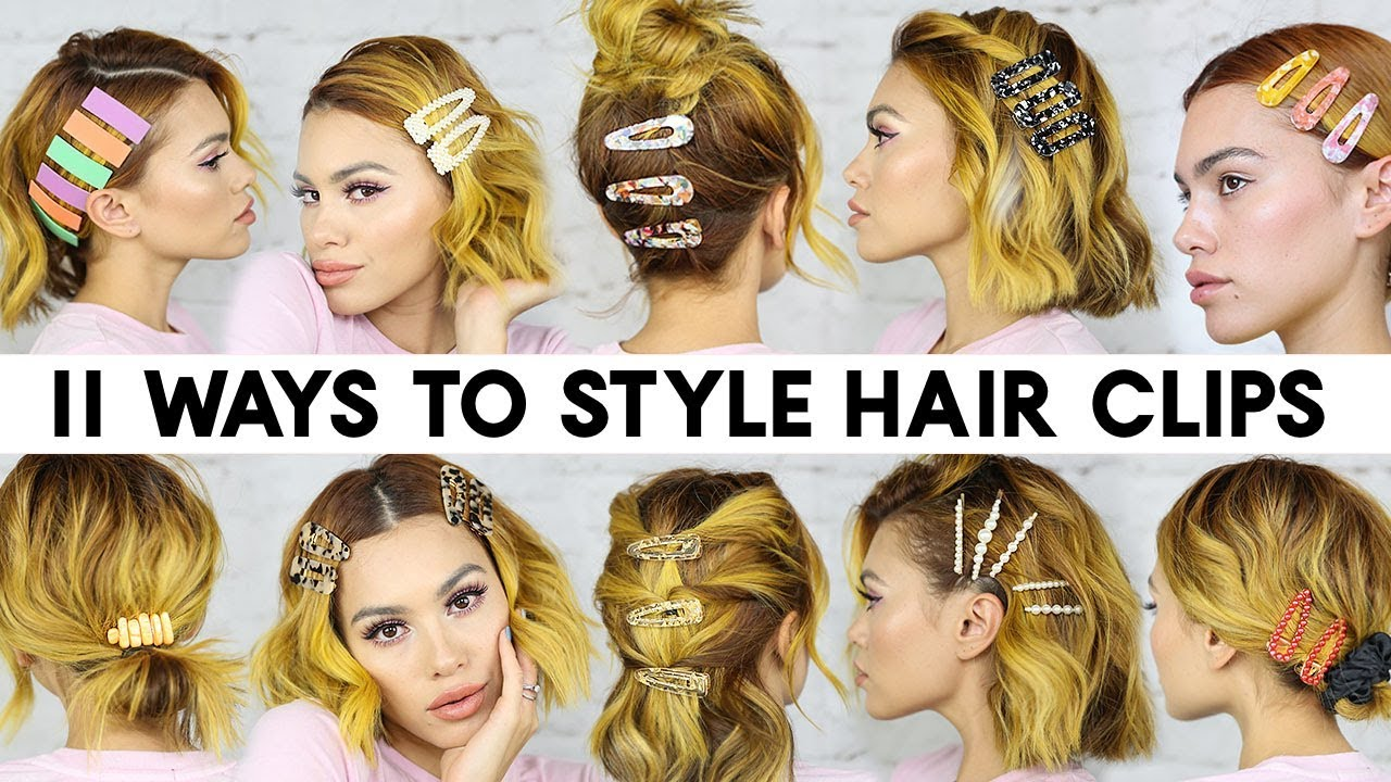 11 Easy Ways To Style Hair Clips For Short Hair Braidless
