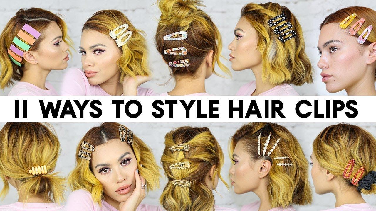easy ways style hair clips