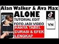 Tutorial Edit Transisi VN Lagu Alan Walker & Ava Max Alone - Edit Foto Jadi Pakai Hp
