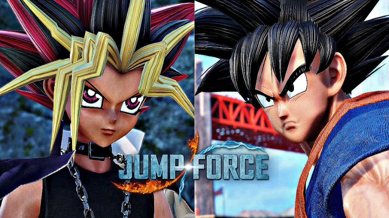 Jump Force Goku Vs Yugi Gameplay 1080p 60fps Youtube