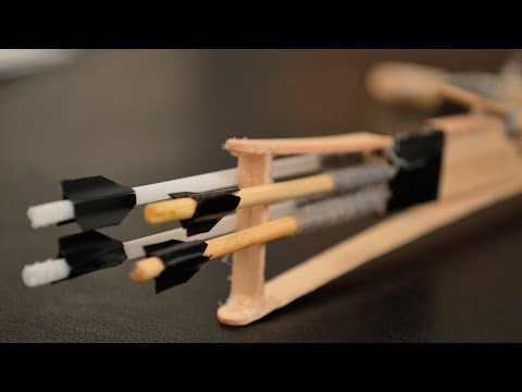 How to Make Mini Toothpick Crossbow Bolts/Arrows