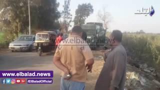 مدير أمن الغربية يشارك في تشييع جثامين ضحايا مشاجرة المحلة.. فيديو وصور