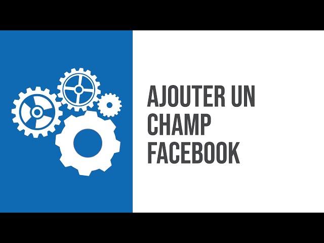 Comment rajouter un champ de réseaux sociaux dans son ERP CRM SIMAX ? Exemple de champ Facebook