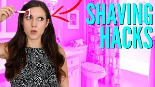 10 SHAVING HACKS EVERY Girl Needs To KNOW! How to Shave with NO RAZOR BUMPS