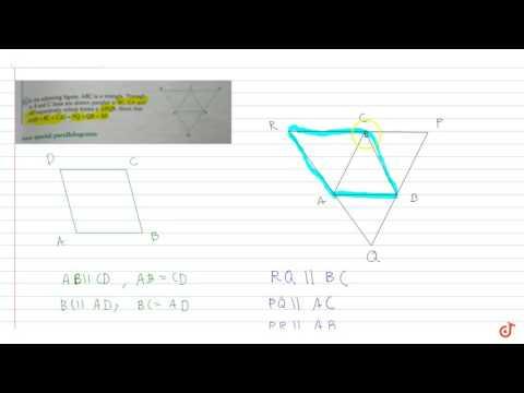 Show that 2 ( AB + BC + AC) = PQ + PR + RQ