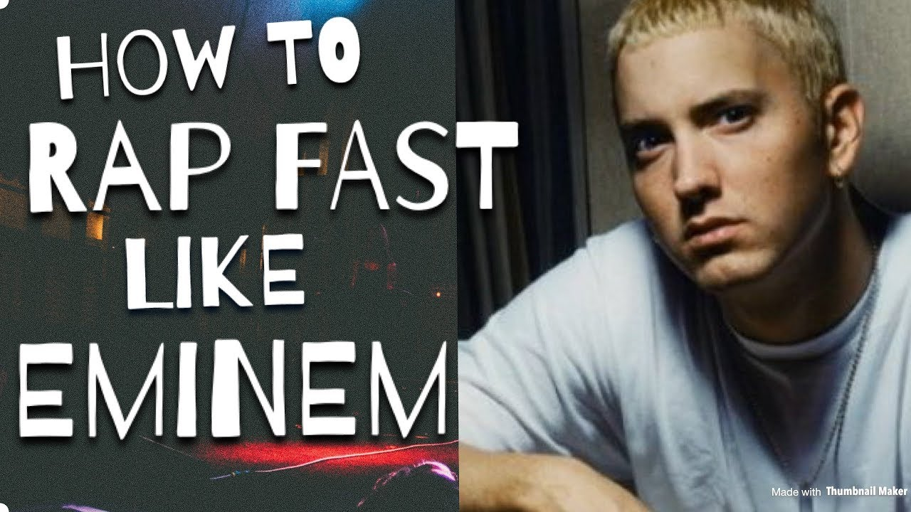 How To Rap Fast Like Eminem - The Best Step By Step Method For ...