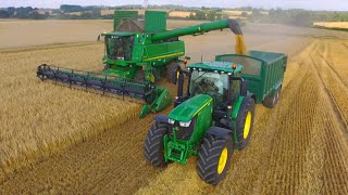 Barley Harvest 2016 UK | 2 John Deere S690i Combines