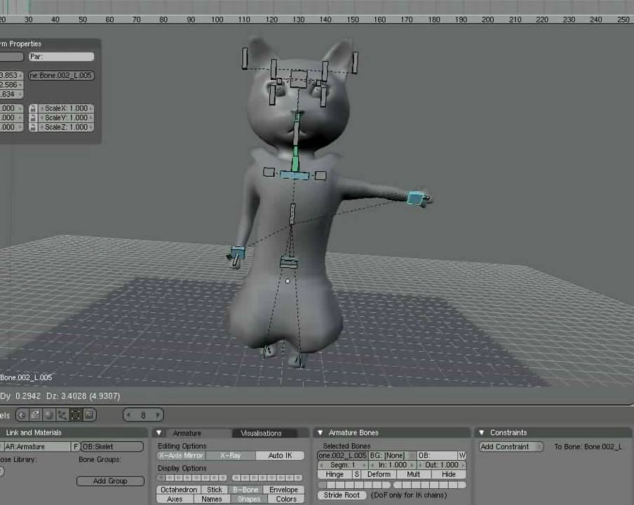 WalkCycle cat blender 3D animation