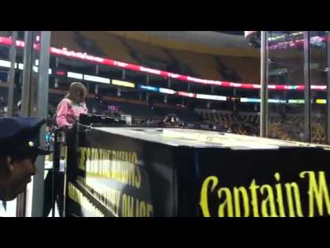 Brooke riding zamboni