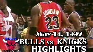 May 14, 1992 Bulls vs Knicks game 6 highlights Video