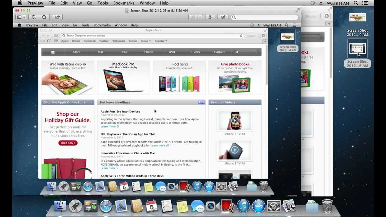 How to take screenshot on mac youtube ccuart Images