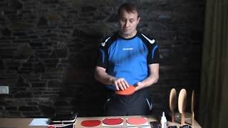 How to use rubber protective films in table tennis gluing process