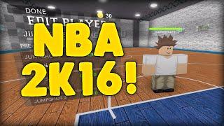 NBA 2k16 ON ROBLOX! - RB World #1