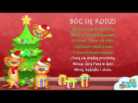 Bóg się rodzi - Polskie Kolędy + tekst (karaoke)