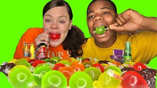 ASMR TikTok Jelly Fruit Challenge With Most Popular Sour Candy