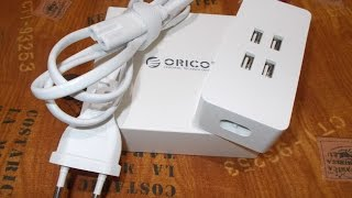 Unboxing ORICO DCV-4U Smart Desktop Charger 4-Port USB 2.4 A